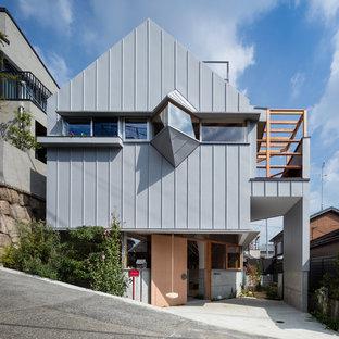 神戸のコンテンポラリースタイルのおしゃれな家の外観の写真