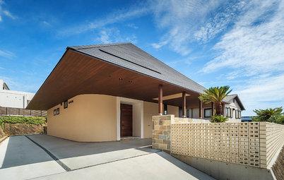 Houzzツアー:リゾートライクなリラックス感と機能性を内包する、三角大屋根の家
