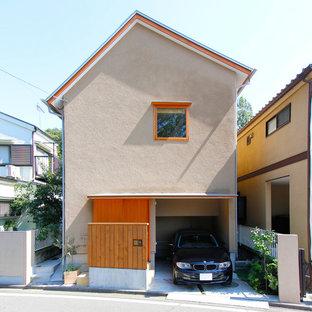 東京都下の和風のおしゃれな家の外観の写真