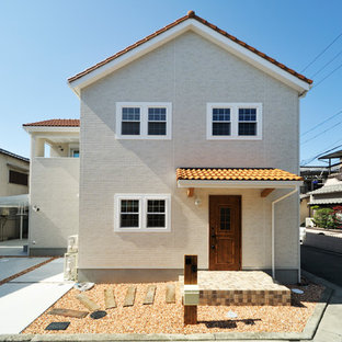 大阪のアジアンスタイルのおしゃれな家の外観の写真