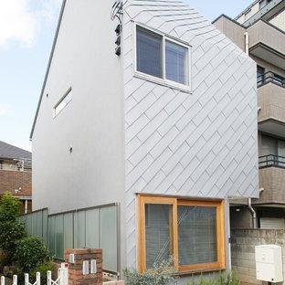 東京23区の小さいコンテンポラリースタイルのおしゃれな家の外観の写真