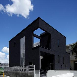 Imagen de fachada negra moderna