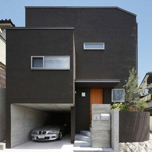 他の地域の中くらいのアジアンスタイルのおしゃれな家の外観の写真