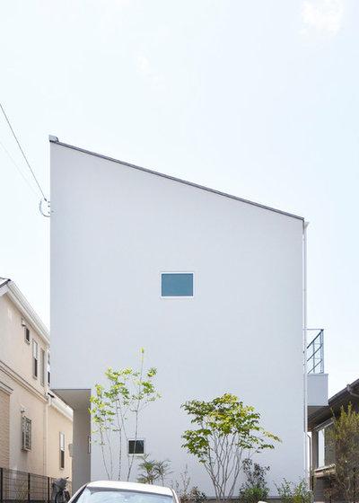 モダン 家の外観 by 富田健太郎建築設計事務所