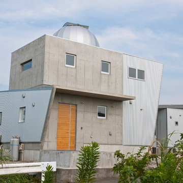 The house for astronomical observation.
