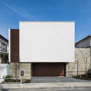 名古屋の中くらいのモダンスタイルのおしゃれな家の外観の写真