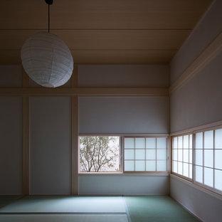 Ejemplo de habitación de invitados contemporánea con tatami