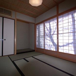 Asiatisches Gästezimmer mit Tatami-Boden in Kyoto