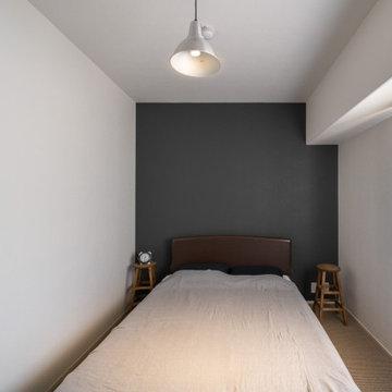 シンプルで洗練された寝室