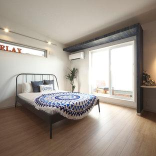 他の地域のビーチスタイルのおしゃれな寝室のインテリア