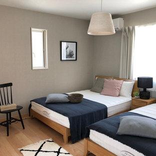 他の地域の北欧スタイルのおしゃれな寝室のインテリア