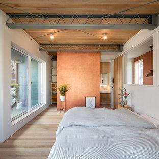 東京23区のインダストリアルスタイルのおしゃれな寝室のレイアウト