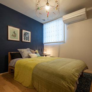 東京都下のアジアンスタイルのおしゃれな寝室