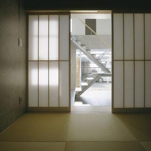 Modelo de habitación de invitados moderna con tatami