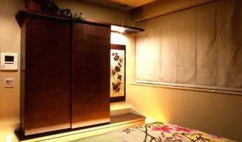 寝室に設けた書籍とテレビの収納は造作家具で。