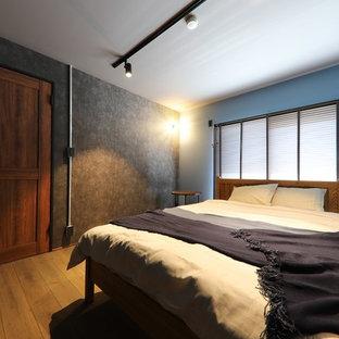 名古屋のインダストリアルスタイルのおしゃれな寝室