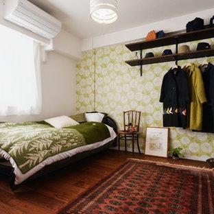 東京都下のミッドセンチュリースタイルのおしゃれな寝室のレイアウト