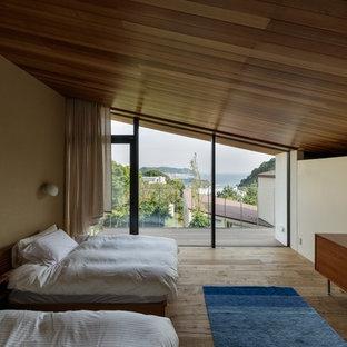 他の地域のトランジショナルスタイルのおしゃれな寝室