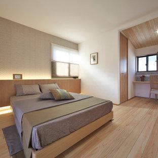 他の地域のモダンスタイルのおしゃれな寝室のインテリア