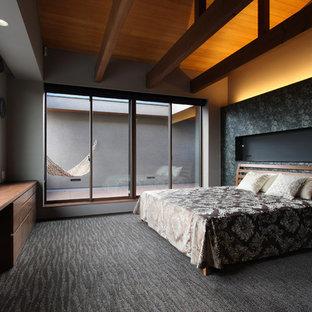 神戸のモダンスタイルのおしゃれな寝室のインテリア