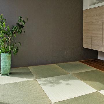 水盤のゆらぎがある美と機能 京都桜井の家