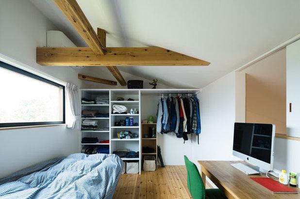 モダン 寝室 by ツクリト建築設計事務所