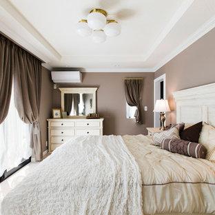 名古屋のトラディショナルスタイルのおしゃれな寝室のレイアウト