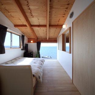 名古屋のサンタフェスタイルのおしゃれな寝室