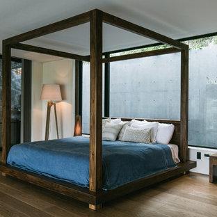 他の地域のアジアンスタイルのおしゃれな寝室のレイアウト