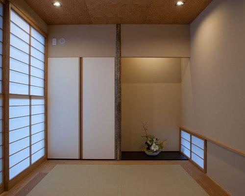 chambre avec un sol de tatami photos et id es d co de chambres. Black Bedroom Furniture Sets. Home Design Ideas