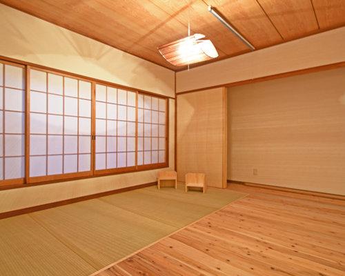 chambre scandinave avec un sol de tatami photos et id es d co de chambres. Black Bedroom Furniture Sets. Home Design Ideas