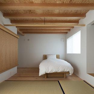 他の地域の中サイズのモダンスタイルのおしゃれな寝室