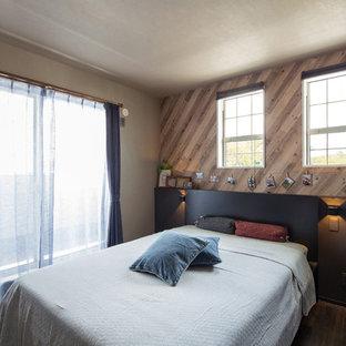 名古屋のエクレクティックスタイルのおしゃれな寝室のレイアウト