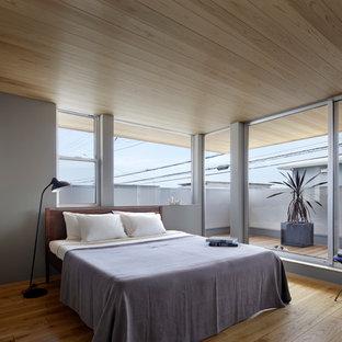 他の地域の北欧スタイルのおしゃれな寝室のレイアウト
