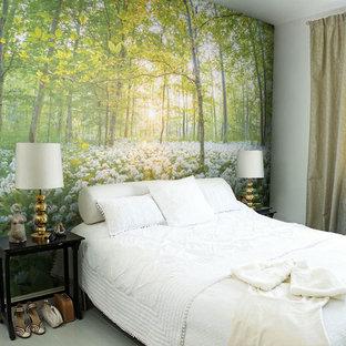 Bedroom - shabby-chic style bedroom idea in Tokyo