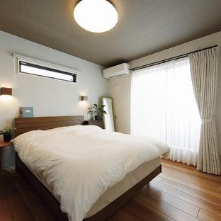 他の地域のインダストリアルスタイルのおしゃれな寝室のインテリア