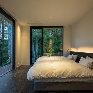 他の地域のコンテンポラリースタイルのおしゃれな寝室のインテリア