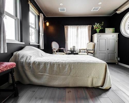 Camere Da Letto Tradizionali : Camera da letto classica con pareti nere foto e idee per arredare
