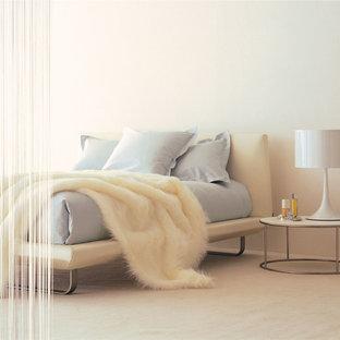 東京23区のモダンスタイルのおしゃれな寝室 (白い壁) のレイアウト