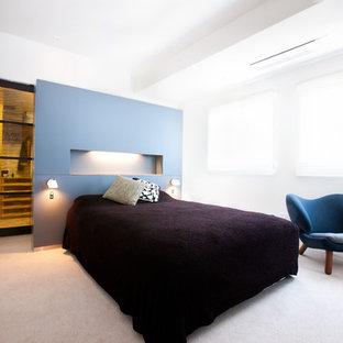 福岡の北欧スタイルのおしゃれな寝室のレイアウト