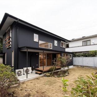 東京23区のアジアンスタイルのおしゃれな裏庭の写真