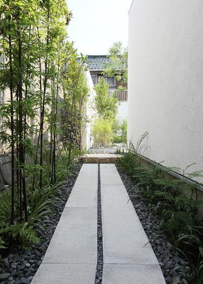 アジアン 庭・ランドスケープ by 桜山建築設計  Sakurayama-Architect-Design