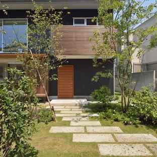 他の地域のアジアンスタイルのおしゃれな前庭 (私道、庭への小道、日向、天然石敷き) の写真