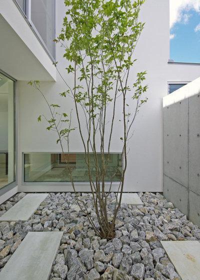 モダン 庭 by 株式会社 空間建築-傳