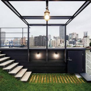東京23区のコンテンポラリースタイルのおしゃれな裏庭の写真