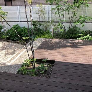 大きなデッキの庭