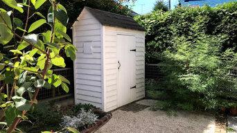 小屋のある庭