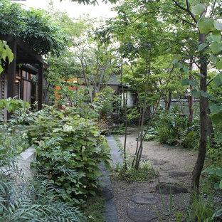 東京23区の和風のおしゃれな庭の写真