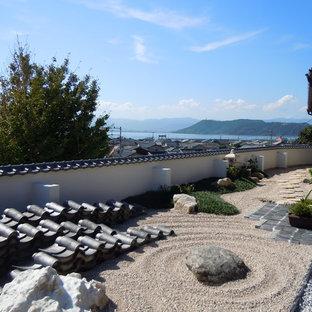 他の地域の和風のおしゃれな庭 (日向、天然石敷き) の写真