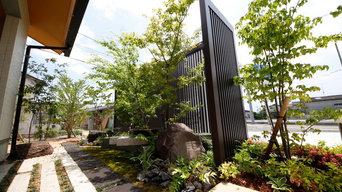 現代風の庭にリフォーム